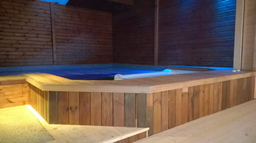 Log Cabin Extension and New Spa Pool