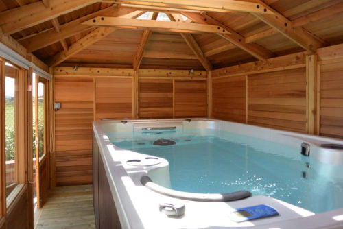 Timber building for Hot Tub