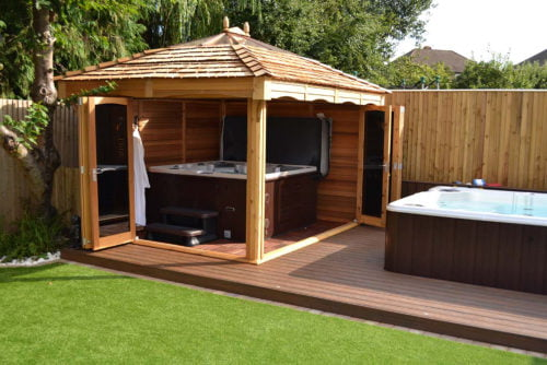 Hot tub gazebo bi-fold doors