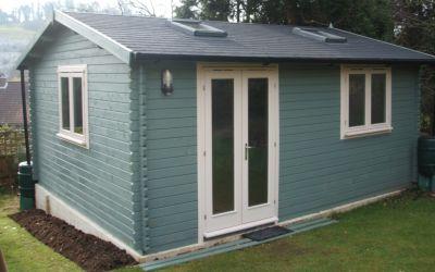 Timber garden buildings west sussex log cabin timber lodge for Best garden office buildings