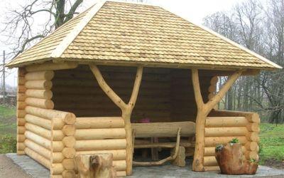 Rustic wood gazebos