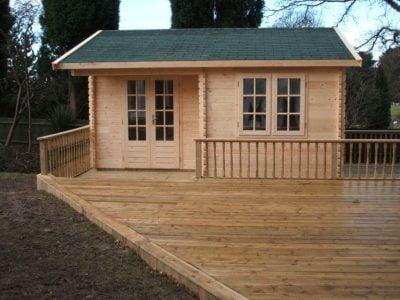 Log Cabin for Hot Tub