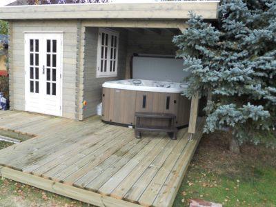 Log Cabin for Hot Tub Pevensey