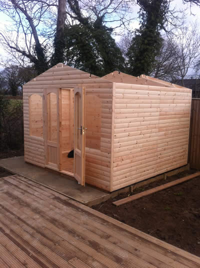 Summerhouse Shed almost installed