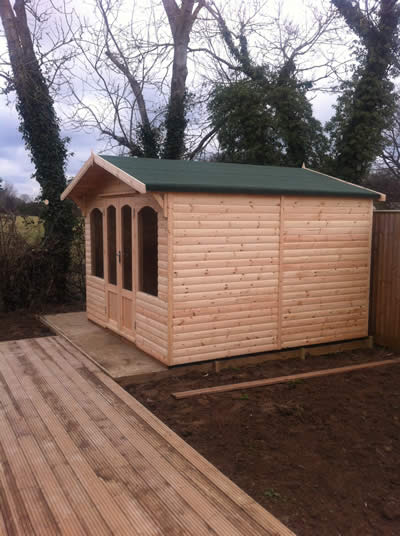Completed garden building
