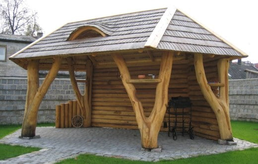 Wooden Gazebo For Hot Tub >> Log Cabins / Glamping Pods / Timber Buildings