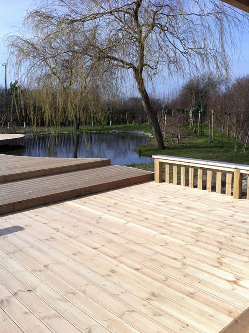Large Summer House and Decking
