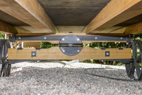 Wooden Gazebo For Hot Tub >> Shepherd Hut / Oak Cast Iron Trolley / East Sussex