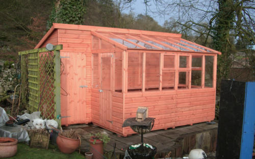 Apex shed greenhouse combination